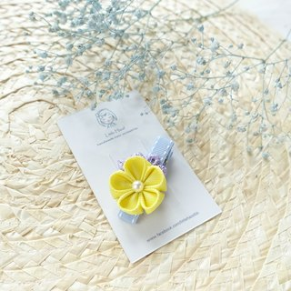 Children headdress. And the wind flower hairpin / Liuhai folder hair ornaments (yellow)