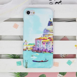 Watercolor Venice Italy Matt hard Phone Case Cover iPhone X 8 8 plus 7 7+ LG V30