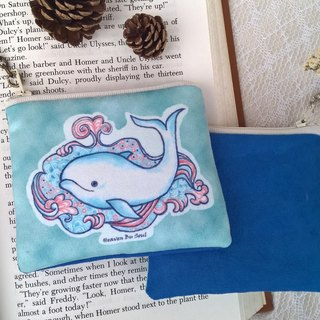 Whale coming out of a fountain of hope coin purse (small)