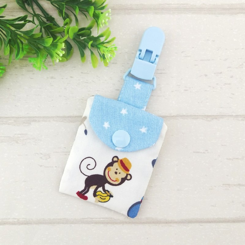Circus gentleman monkey. Peace symbol bag (can be increased by 40 embroidered name)