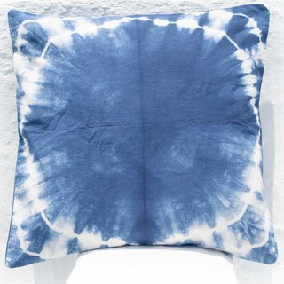 Blue dyed pillowcase / cotton pillowcase / printed pillowcase / indigo blue dyed pillowcase - blue dyed ocean
