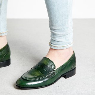 H THREE PENNY Loafers / Flat / Green / Soft Green