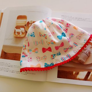 Bow knot cotton ball baby fisherman hat baby cap