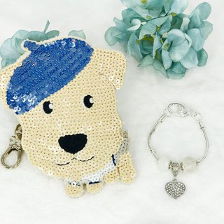 Coin Bag + Bracelet Special Promotion Set (Blue)