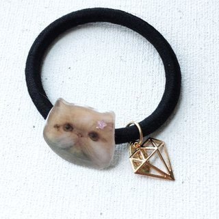 Exotic Cat Kiki with Diamond Shape Handmade 2 ways Elastic  & Bracelet