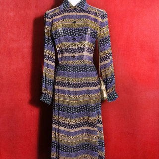 Thin wool totem long-sleeved vintage dress / brought back to VINTAGE abroad