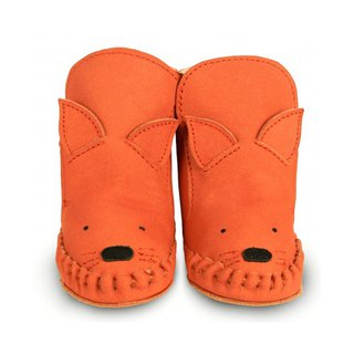 Netherlands Donsje leather bristles animal modeling boots baby shoes shoes bright orange fox 0579-NL130-ST002