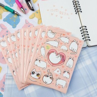 White fleshy pink and tender sticker set