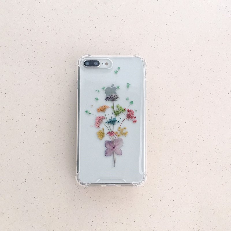 Confession Bouquet Dry Flower Embossed Phone Case IX