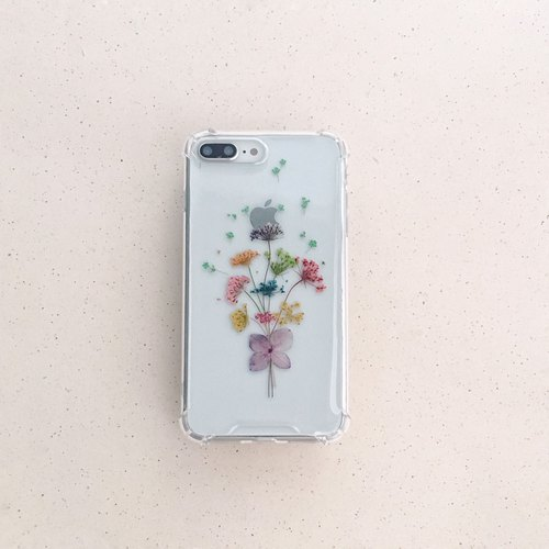 Confessions bouquet: dried flowers embossed phone shell iphone 8 plus i8 iphoneX iX