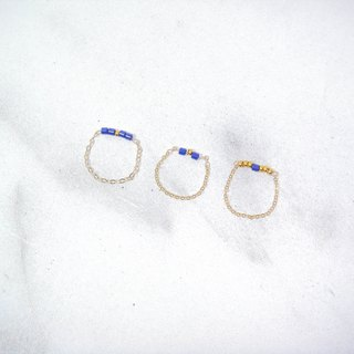 Blue ore three gold medal package 14 fingers / ring