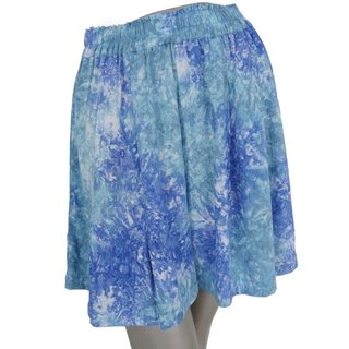Uneven dyed beach culottes pants <Blue Marble>