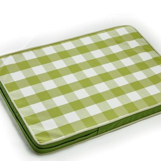 Lifeapp Sleeping Pad Replacement Cloth -- M_W80 x D55 x H5 cm (Green White) without sleeping pad