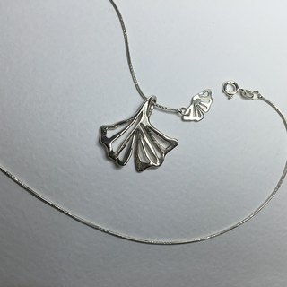 Sen song series _ ginkgo _ sterling silver necklace