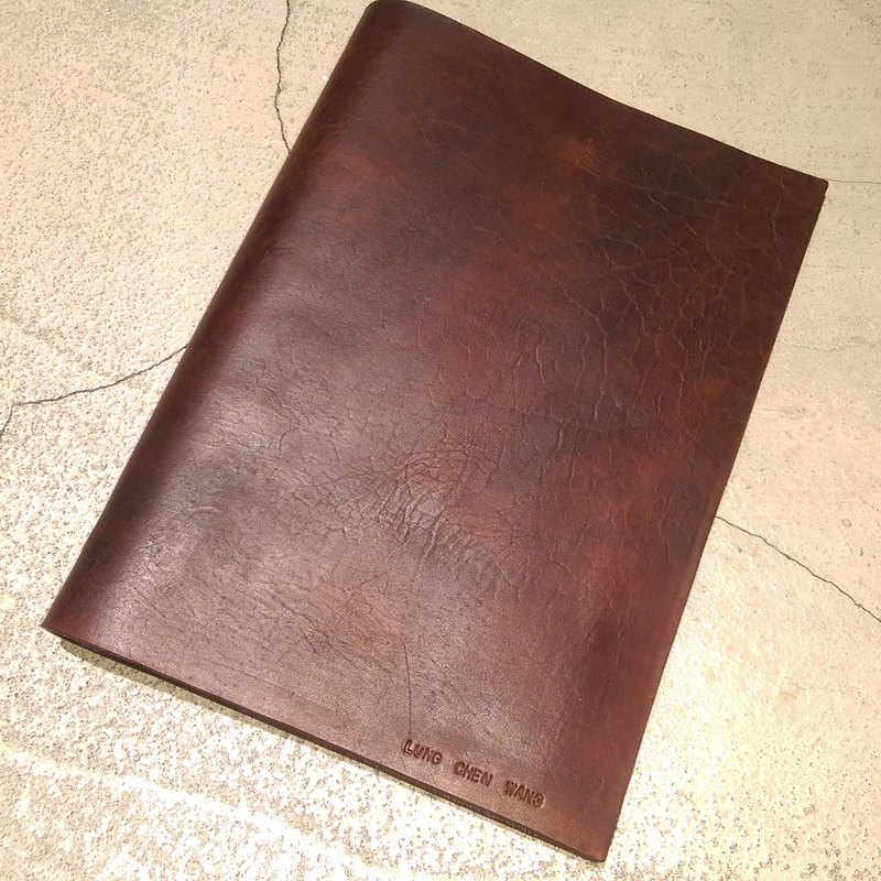Handmade hand-dyed leather 20-hole loose-leaf notebook A5 (free printing, embroidered words)