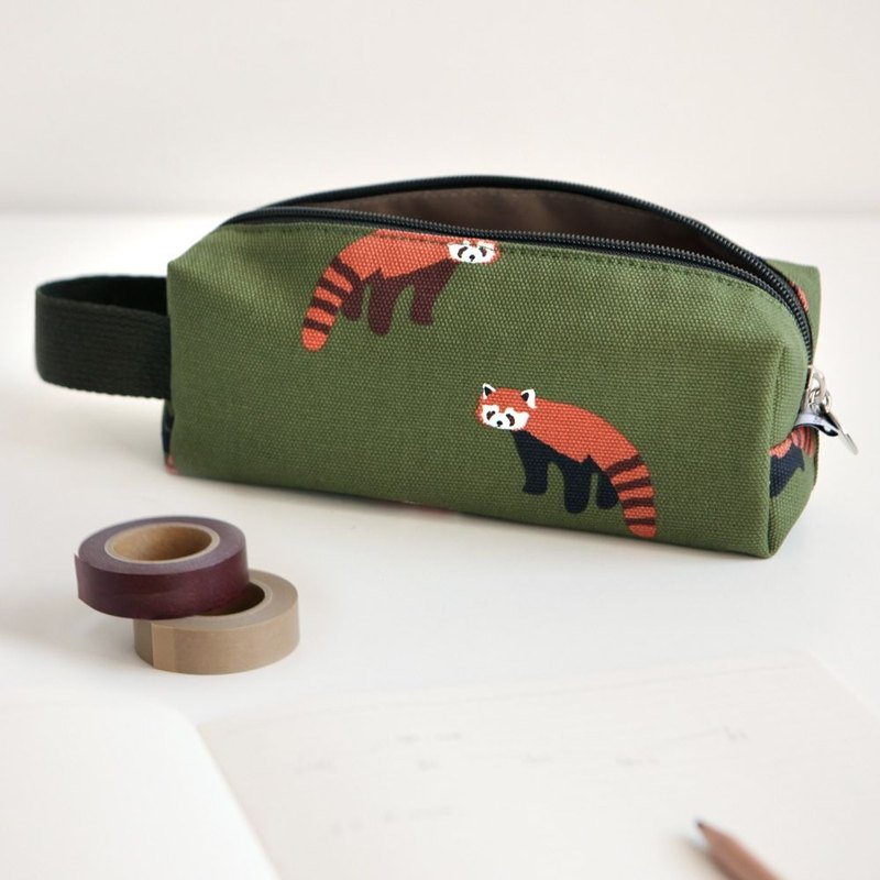 Dailylike law stick canvas hand pencil case -02 red panda, E2D48491