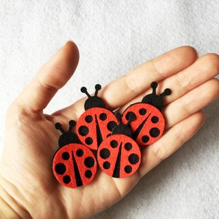 4pieces/set Ladybug felt iron-on patch