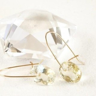 14KGF Brilliant Lemonquartz Earrings