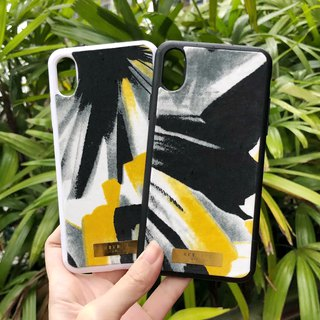 Cloth Fabric Fabric Mobile Shell - Yellow Splash (iphone X/8plus/8/7/7plus/6plus/6)