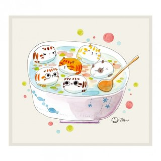 Illustrator Series Cat p - cat rice balls ll Wipes