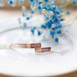 So many reason to be happy Silver Rose Gold Plated Bracelet