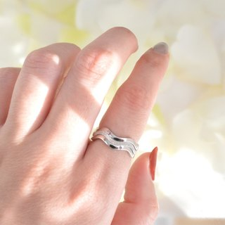 Wave ring Set / silver925 /