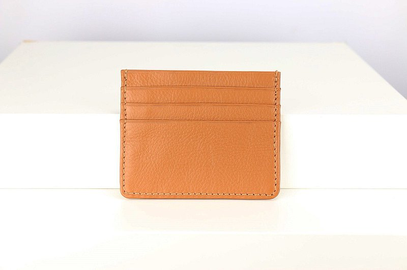 C006 Card Case Wallet - Caramel - Genuine leather