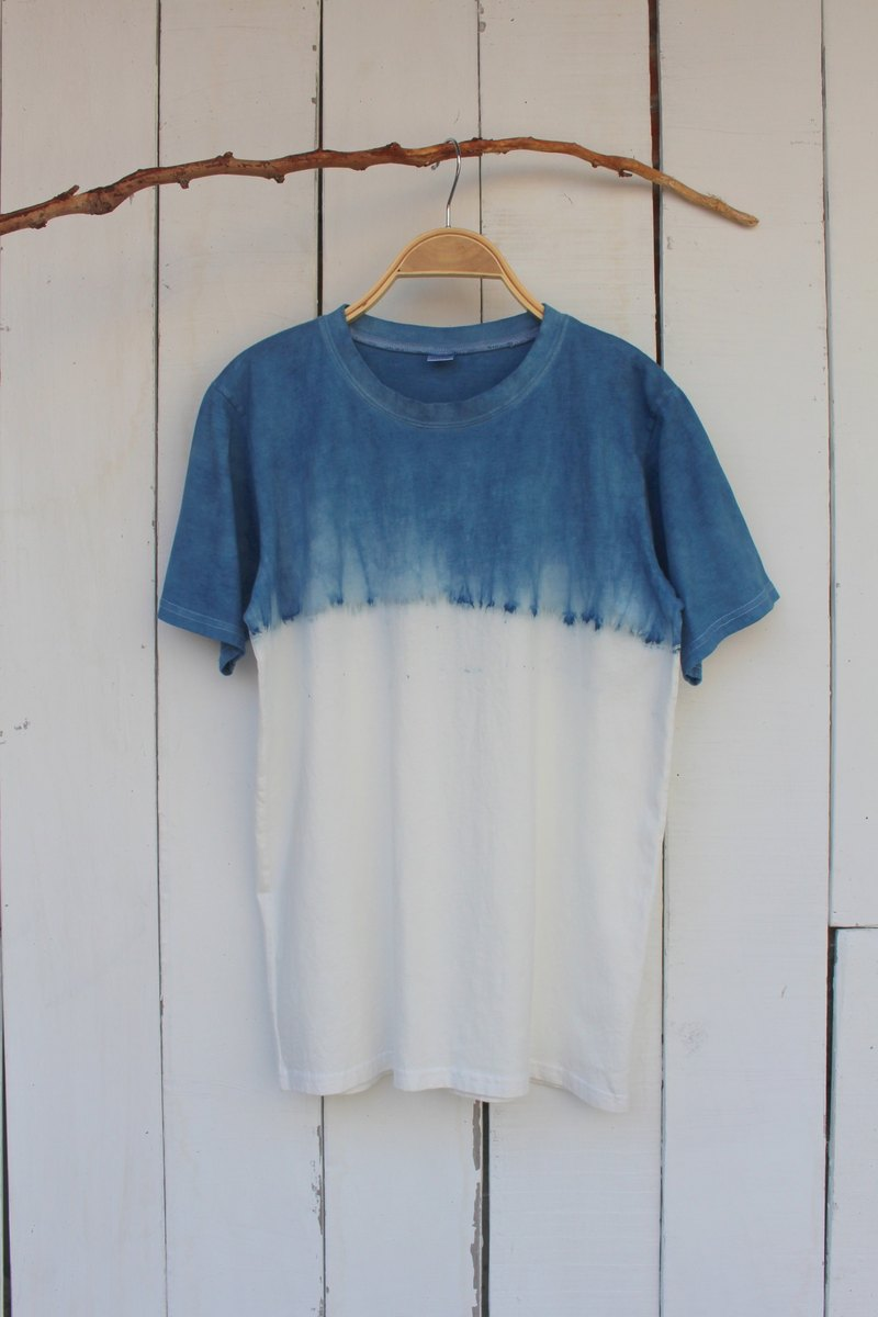 自在染isvara 手工藍染 純粹系列 簡單 純棉T-shirt