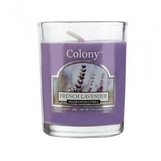British fragrance Colony series of French lavender small tank glass candle