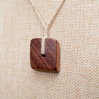 EARTH.er │NATURAL ●  Wooden Brick Necklace│
