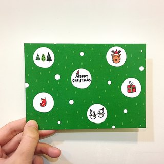 Christmas - Green Forest / Postcard