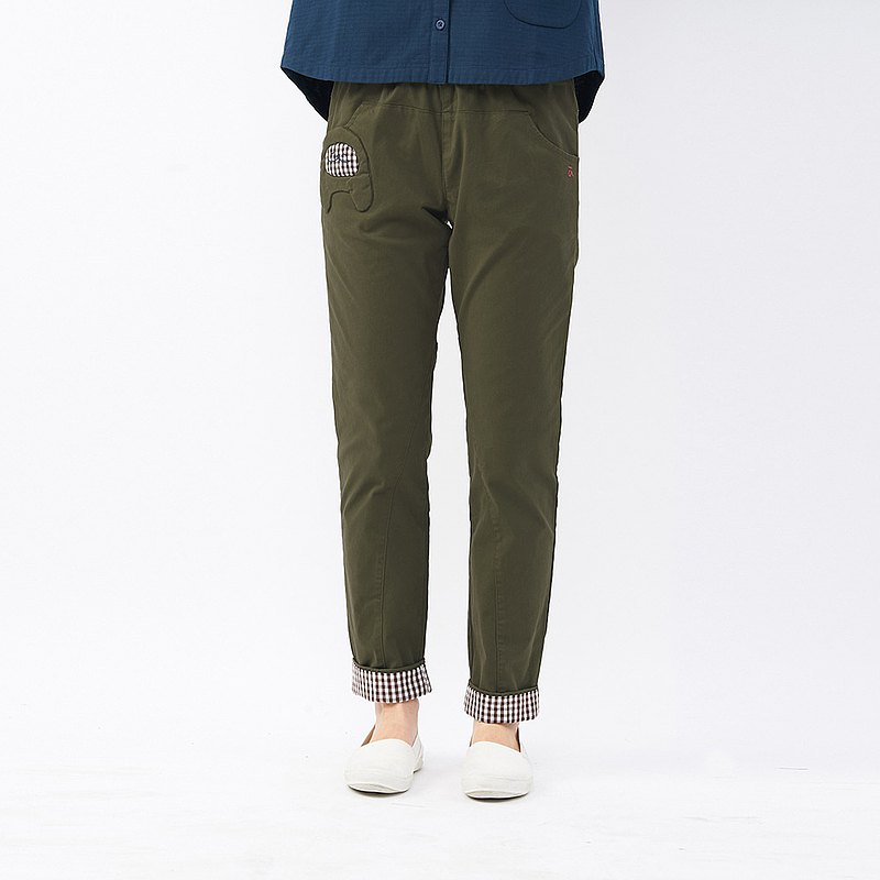 à la sha Matcha pocket pants with reversible fit