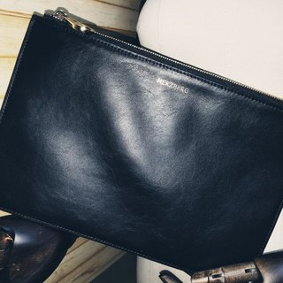 Imported Italian Nappa Leather Black Pouch