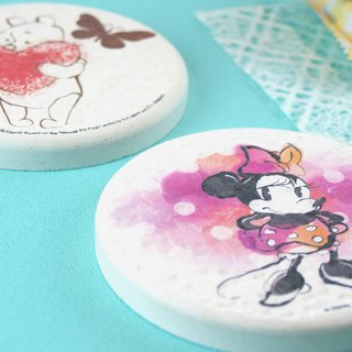 [Christmas gift] Minnie - genuine Disney diatomaceous earth water absorption round pad