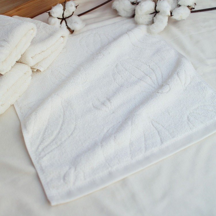 Organic cotton jacquard towel _ Hot Air Balloon
