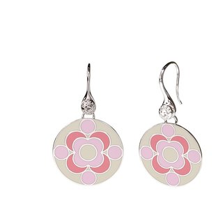 Paul Dirac quantum Cloisonne Earrings (Silver) -08,109,151,109