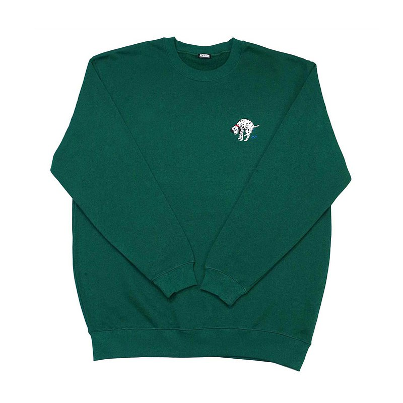 【PEGION】DALMATIAN ROUND NECK SWEAT TOP - GREEN