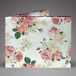 Supervek Rose Handmade Paper Wallet / Wallet / Short Clip Tyvek Environmental Protection Material Waterproof Tearproof