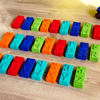 Braille Blocks American Rubbabu Pure Natural Latex Toys Special Alphabet Braille