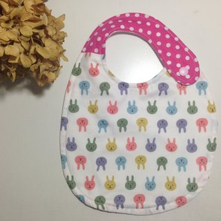 Color rabbit rabbit double-sided bib