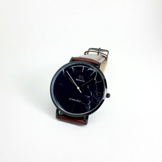 Customized Watch - Summer Collection - DIY Watch (Black Marble Surface)