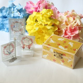 Goody Bag - Lucky Box Set - Yellow Rabbit with 3 boxes of crane accessories (Random Pattern)