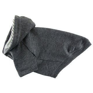 Super Soft Simple Dark Charcoal Fleece Hooded Sweatshirt,Dog Apparel