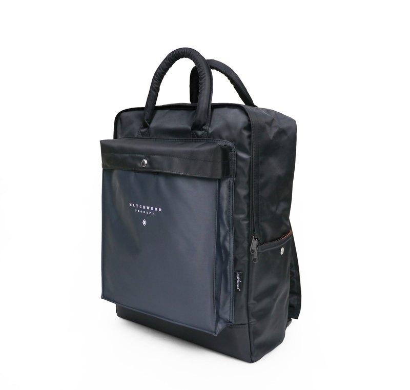 Matchwood Design Matchwood Basic Backpack Backpack Black Grey - Designer  matchwood  7204e70e54d77