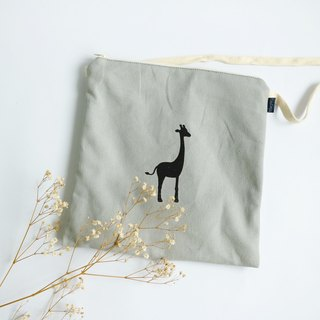 MaryWil Square Pouch - Gray Giraffe