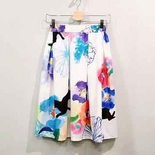 Secret Garden skirt +washitape
