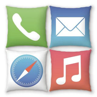 AppleWork iPillow a group of four creative pillow ICON PSIP-17-20