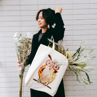 Home Hotel original thick canvas bag - owl
