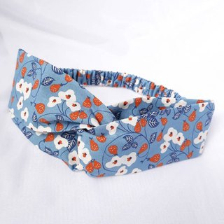 Blueberry berry pattern handmade hair band