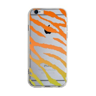 Orange Wave Pattern - iPhone X 8 7 6s Plus 5s Samsung note S7 S8 S9 plus HTC LG Sony Mobile Phone Case Cover